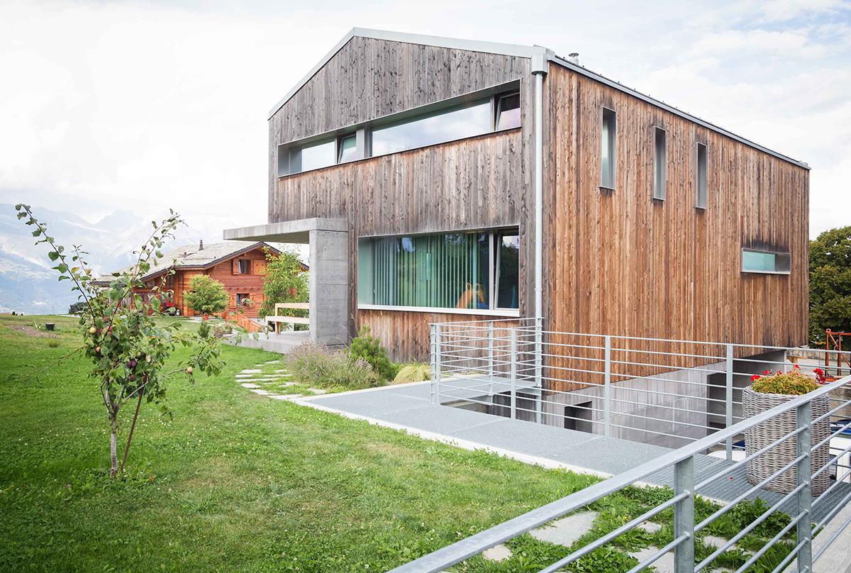 Maison bois beton awesome maison bois beton with maison for Bloc construction bois