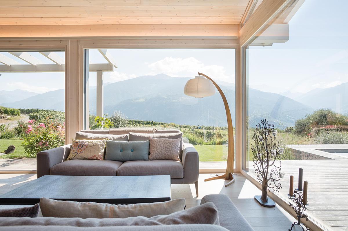 Nos r alisations de maisons ma maison bois for Salon construction maison